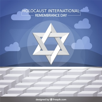 Holocaust-gedenktag, stern auf denkmal in berlin