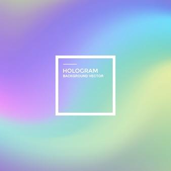 Hologramm hintergrund mit farbverlauf
