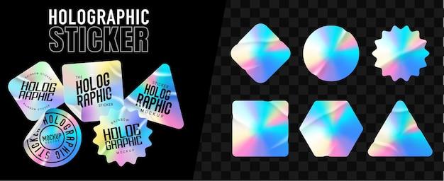 Hologrammetiketten in verschiedenen formen
