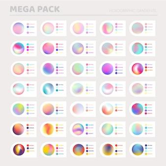 Holographische farbverläufe eingestellt
