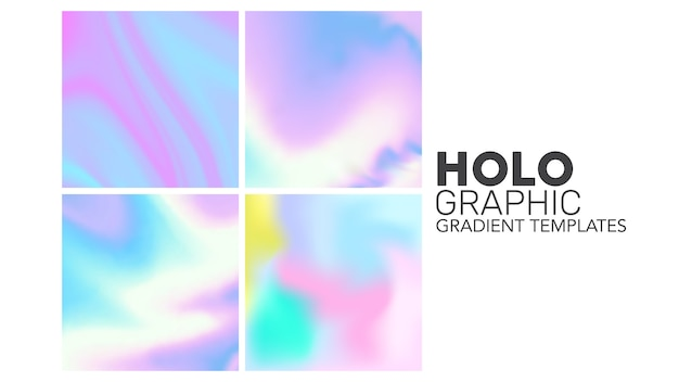 Holographische farbverlaufsvorlagen