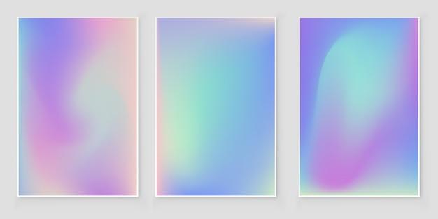 Holographische folie farbverlauf schillernden cover abstrakte cover set