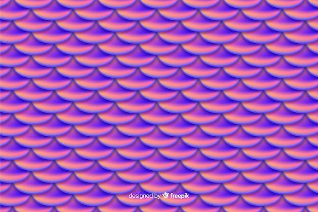 Holographische meerjungfrau schwanz hintergrund