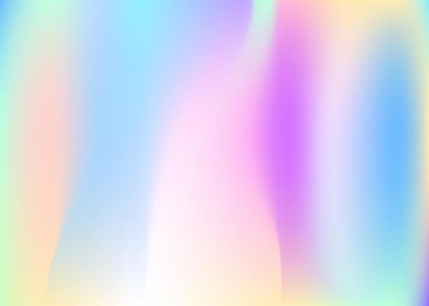 Holographischer abstrakter hintergrund. regenbogen holographischer hintergrund mit verlaufsgitter. 90er, 80er retro-stil. schillernde grafikvorlage für banner, flyer, cover-design, mobile schnittstelle, web-app.