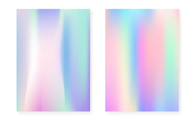 Holographischer farbverlauf mit hologrammabdeckung.