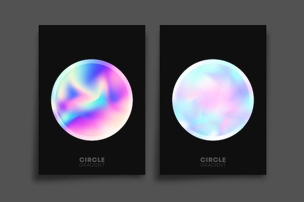Holographischer gradientenkreis, plakat.
