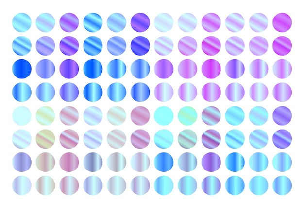 Holographischer gradientensatz. moderne metallische farbverläufe.
