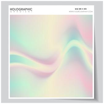 Holographischer hintergrund mit farbverlauf