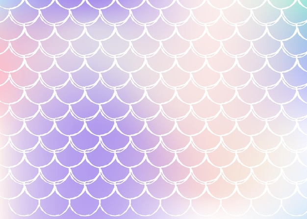 Holographischer meerjungfrauenhintergrund mit gradientenfarbe