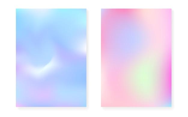 Holographischer steigungshintergrundsatz mit hologrammabdeckung.