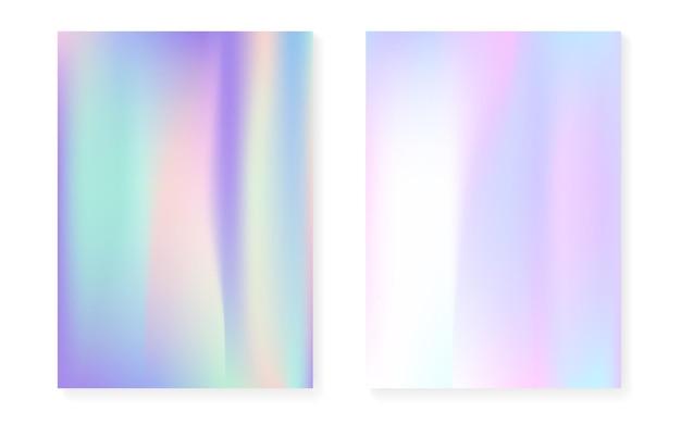 Holographisches cover mit hologramm-gradientenhintergrund.
