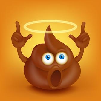 Holy poop charakter mit nimbus