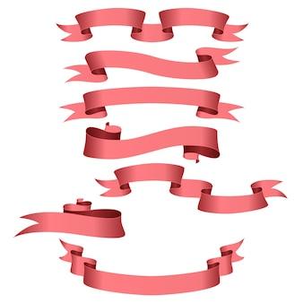 Holyday satz von rosa bändern