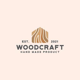 Holz handwerk logo vorlage