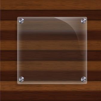 Holz mit glashintergrund