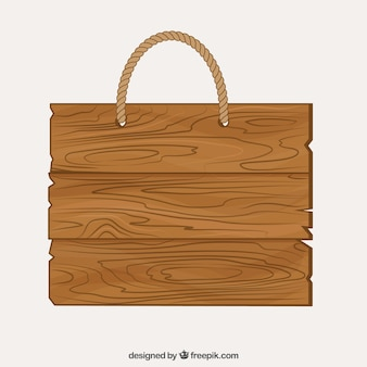 Holz-schild mit einem seil