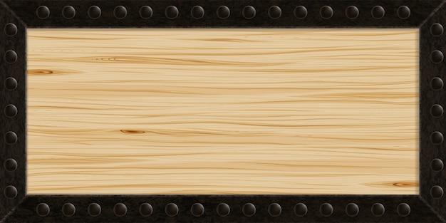 Holz- und metallstruktur