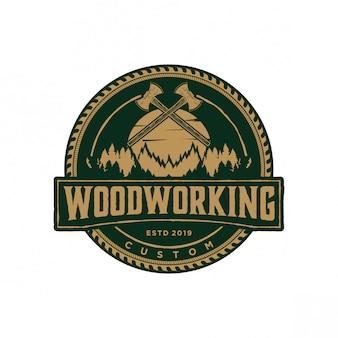 Holzbearbeitung logo vintage