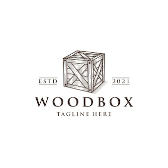 Holzbox logo vorlage