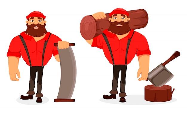 Holzfäller-cartoon-figur