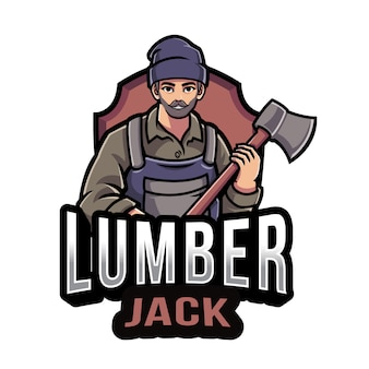 Holzfäller logo vorlage