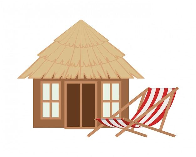 Holzhaus am strand