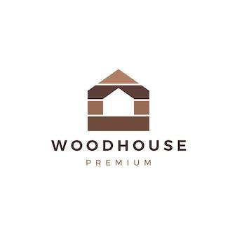 Holzhaus holzplatte wandfassade decking wpc vinyl hpl logo symbol illustration