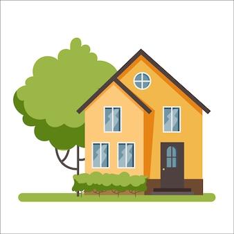 Holzhaus, moderne architektur. idee von immobilien