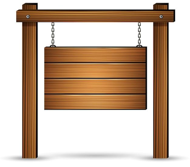 Holzschild hängen mit ketten