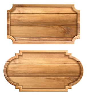 Holzschild lokalisiert auf weißem hintergrund