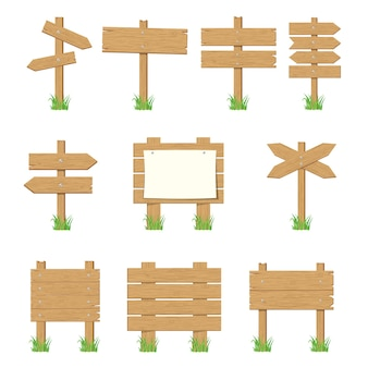 Holzschilder, holzpfeilzeichen-set