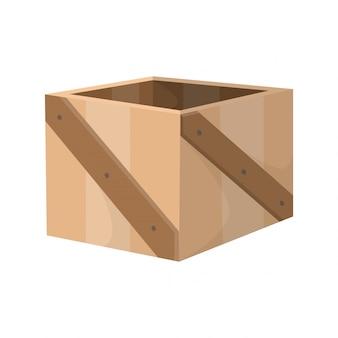 Holzschublade. box-paket. transportbehälter oder leere holzkiste, frachtverteilungspaket