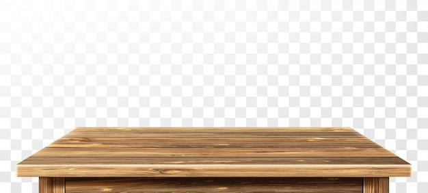 Holztischplatte mit gealterter oberfläche, realistisch Kostenlosen Vektoren