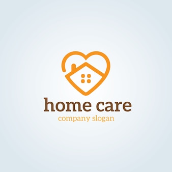 Home care logo vorlage.
