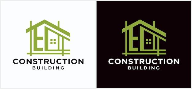 Home contractor architektur logo design bauunternehmen markendesign vorlage architekt logo