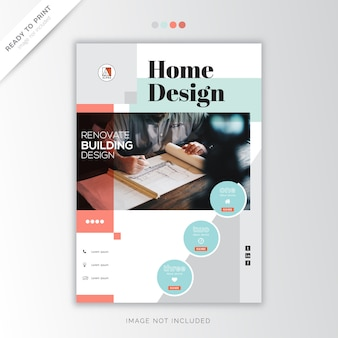 Home design corporate abdeckung vorlage