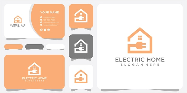 Home elektrische logo-design-vorlage. home-logo-design. elektrisches logo-design