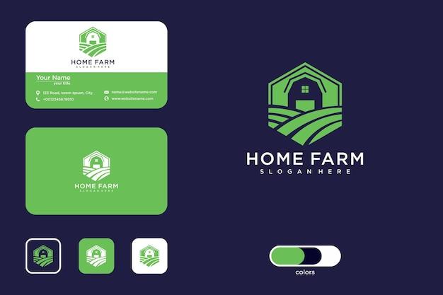 Home farm logo-design und visitenkarte