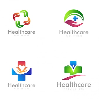 Home healthcare-logo und icon-design