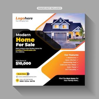 Home house immobilienverkauf social media post