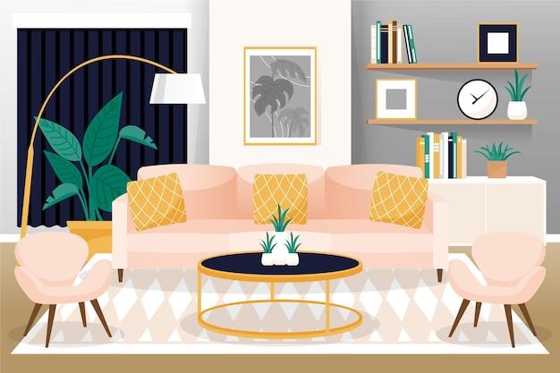 Home interior hintergrund für videokonferenzen