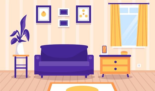 Home interior wallpaper für videokonferenzen