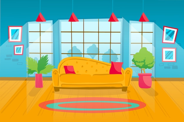 Home interior wallpaper für videokonferenzen