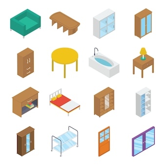 Home interiors isometric pack