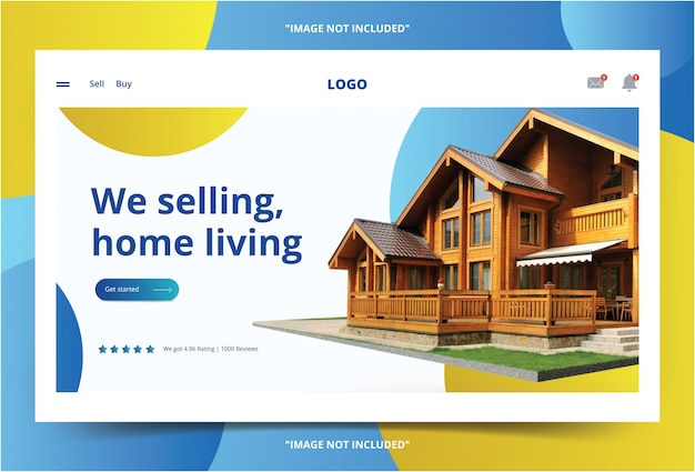 Home living website landing page haus home company