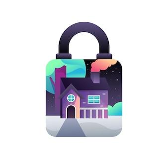Home lockdown illustration