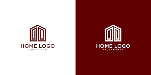 Home logo design vorlage