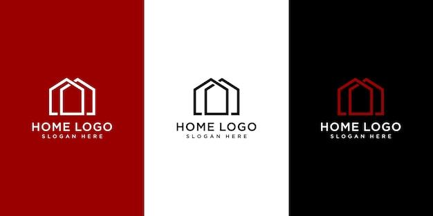 Home logo design vorlage