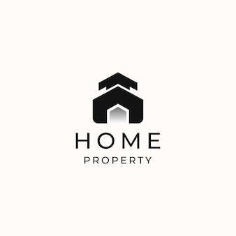 Home modernes konzept logo vorlage in weißem hintergrund isoliert. vektorillustration