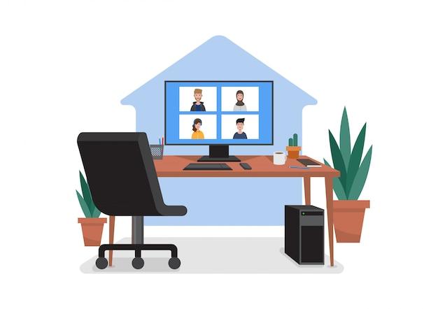 Home office für die arbeit von zu hause aus